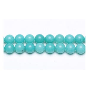 Turquoise Malaysian Jade Grade A Plain Round Beads 12mm Strand Of 30+ Pieces GS9949-5