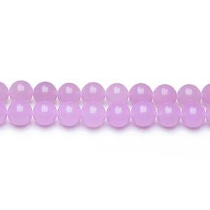 Purple Malaysian Jade Grade A Plain Round Beads 4mm Strand Of 95+ Pieces GS9950-1