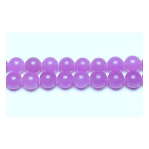 Purple Malaysian Jade Grade A Plain Round Beads 6mm Strand Of 62+ Pieces GS9950-2
