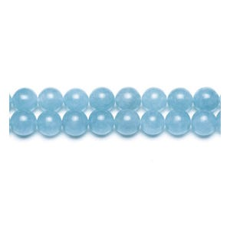 Cyan Malaysian Jade Grade A Plain Round Beads 6mm Strand Of 62+ Pieces GS9951-2
