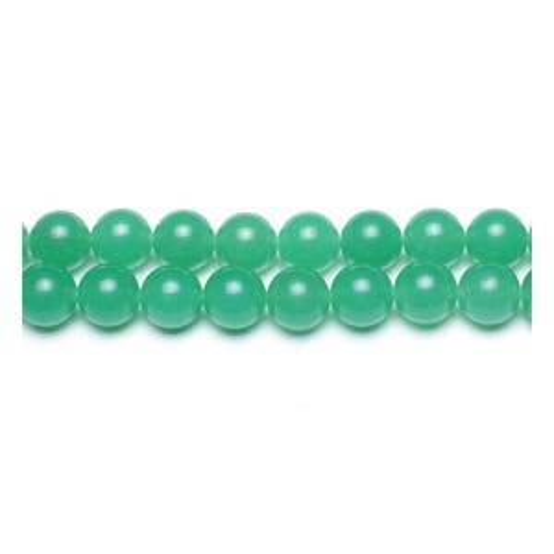 Green Malaysian Jade Grade A Plain Round Beads 6mm Strand Of 62+ Pieces GS9952-2