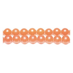 Orange Malaysian Jade Grade A Plain Round Beads 4mm Strand Of 95+ Pieces GS9962-1