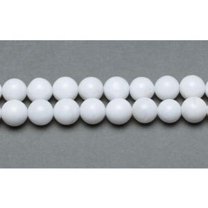 White Malaysian Jade Grade A Plain Round Beads 6mm Strand Of 62+ Pieces GS9963-2