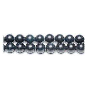 Black Malaysian Jade Grade A Plain Round Beads 6mm Strand Of 62+ Pieces GS9965-2