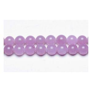 Lilac Malaysian Jade Grade A Plain Round Beads 6mm Strand Of 62+ Pieces GS9970-2