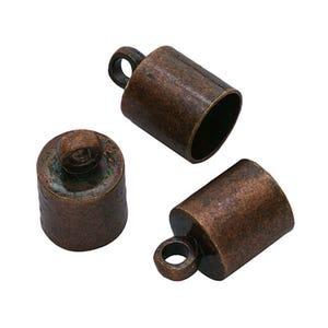 Red Copper Brass 6mm Barrel End Caps Pack Of 30 HA01402
