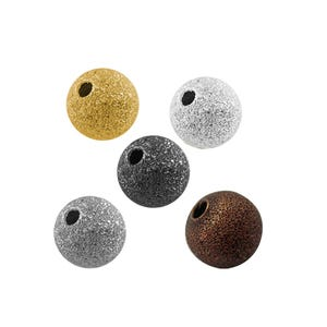 Mixed-Colour Stardust Brass Round Spacer Beads 4mm Pack Of 100+ HA01890