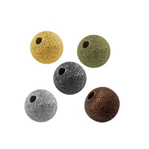 Mixed-Colour Stardust Brass Round Spacer Beads 8mm Pack Of 50 HA01891