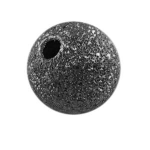 Dark Silver Stardust Brass Round Spacer Beads 4mm Pack Of 150+ HA01925