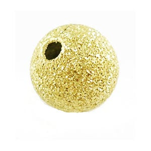 Golden Stardust Brass Round Spacer Beads 8mm Pack Of 50 HA01930