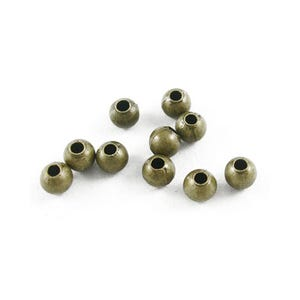 Antique Bronze Iron Round Spacer Beads 3mm Pack Of 600+ HA01974