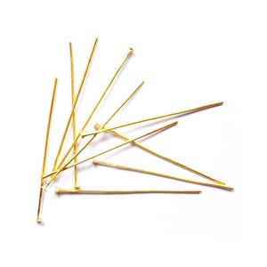 Golden Plated Iron 0.7mm x 40mm Flat Head Pins Pack Of 275+ HA02160