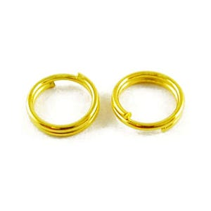 Golden Plated Iron 0.7mm x 7mm Round Split Rings Pack Of 450+ HA02230