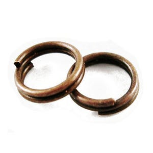 Red Copper Plated Iron 0.7mm x 7mm Round Split Rings Pack Of 450+ HA02236