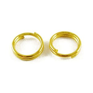 Golden Plated Iron 0.7mm x 5mm Round Split Rings Pack Of 600+ HA02245