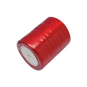 Red Satin Ribbon 20M Spool 7mm Wide HA02750