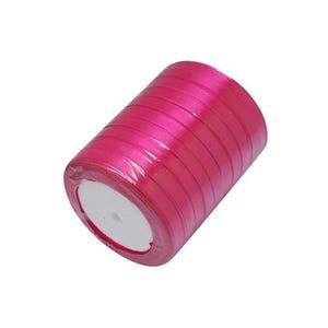 Bright Pink Satin Ribbon 20M Spool 7mm Wide HA02751