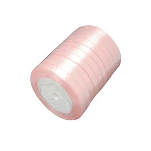 Pale Pink Satin Ribbon 20M Spool 7mm Wide HA02754