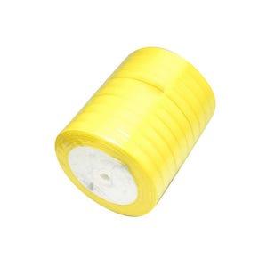 Yellow Satin Ribbon 20M Spool 7mm Wide HA02771