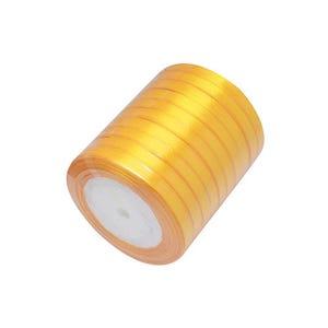 Dull Yellow Satin Ribbon 20M Spool 7mm Wide HA02772