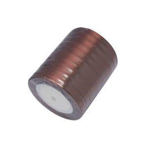 Brown Satin Ribbon 20M Spool 7mm Wide HA02773