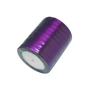 Dark Purple Satin Ribbon 20M Spool 7mm Wide HA02774