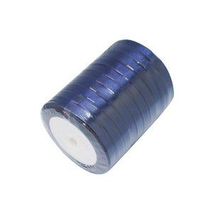 Dark Blue Satin Ribbon 20M Spool 7mm Wide HA02775