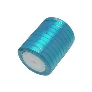 Cyan Satin Ribbon 20M Spool 7mm Wide HA02776