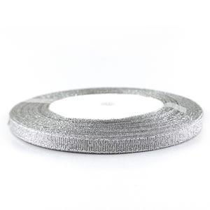 Silver Satin Ribbon 20M Spool 7mm Wide HA02780