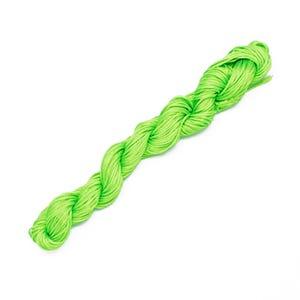 Lime Green Silky Nylon Kumihimo Macrame Cord 12M Skein 2mm Thick HA03510