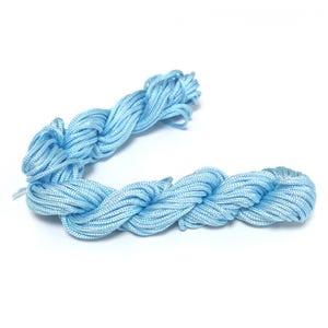 Pale Blue Silky Nylon Kumihimo Macrame Cord 12M Skein 2mm Thick HA03530