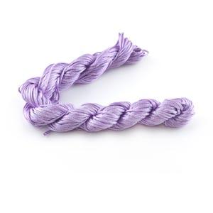 Lilac Silky Nylon Kumihimo Macrame Cord 25M Skein 1mm Thick HA03955