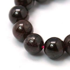 Dark Red Garnet Grade A Plain Round Beads 2.5mm Strand Of 70+ Pieces HA04710