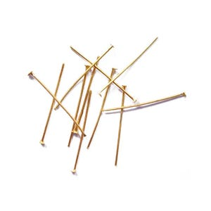 Golden Plated Iron 0.7mm x 20mm Flat Head Pins Pack Of 600+ HA06090