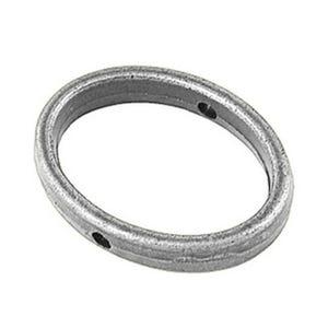 Antique Silver Tibetan Zinc 15mm x 35mm Oval Bead Frames Pack Of 20 HA06410