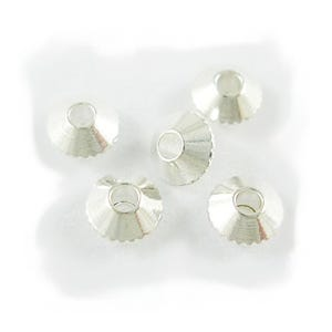 Silver Brass Plain Bicone Beads 4mm Pack Of 100+ HA06850
