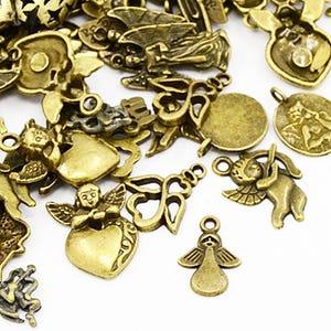 Antique Bronze Tibetan Zinc Mixed Fairy Charms 5-40mm Pack Of 30g HA07065