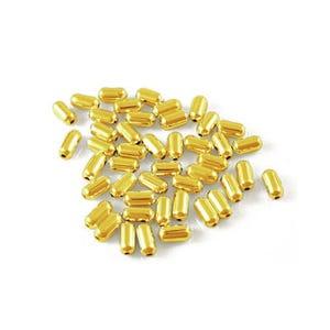 Golden Iron Tube Spacer Beads 2.5mm x 10mm Pack Of 600+ HA07665
