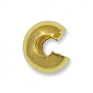 Golden Brass 3mm Round Crimp Covers Pack Of 100+ HA07695