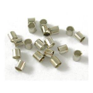 Platinum Brass 1.5mm Tube Crimp Beads Pack Of 1500+ HA07805