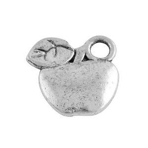 Antique Silver Tibetan Zinc Apple Charms 10mm Pack Of 20 HA08325