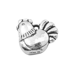 Antique Silver Tibetan Zinc Easter Chicken Charms 13mm Pack Of 20 HA09290