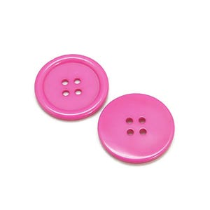 Pink Resin 20mm 4-Hole Round Buttons Pack Of 20 HA10715