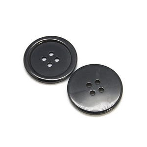 Black Resin 20mm 4-Hole Round Buttons Pack Of 20 HA10725