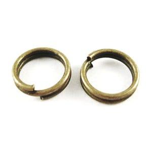Antique Bronze Iron 0.7mm x 8mm Round Split Rings Pack Of 275+ HA11425