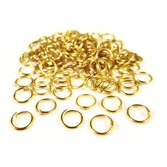 Golden Iron 0.7mm x 8mm Round Open Jump Rings Pack Of 350+ HA11440