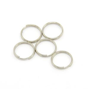 Antique Silver Iron 0.7mm x 10mm Round Split Rings Pack Of 150+ HA11750
