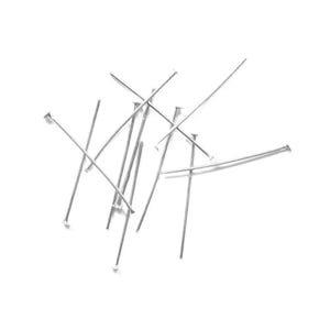 Silver Iron 0.7mm x 35mm Flat Head Pins Pack Of 250+ HA11810