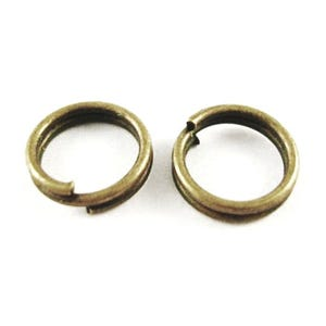 Antique Bronze Iron 0.7mm x 6mm Round Split Rings Pack Of 350+ HA11915