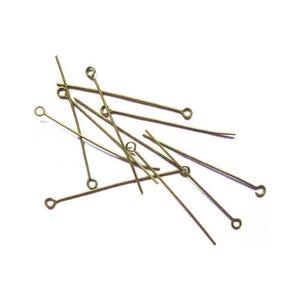 Antique Bronze Iron 0.7mm x 30mm Eye Pins Pack Of 300+ HA11920